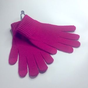 FOWNES BROTHERS SHIMA KNIT GLOVES HOT PINK OS NWOT